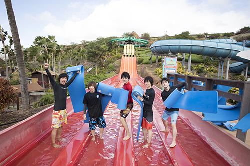 ハワイ組の5人はウォーターパークで大はしゃぎ!12月19日放送『たびメイト』第12回のあらすじ&先行カットをお届け イメージ画像