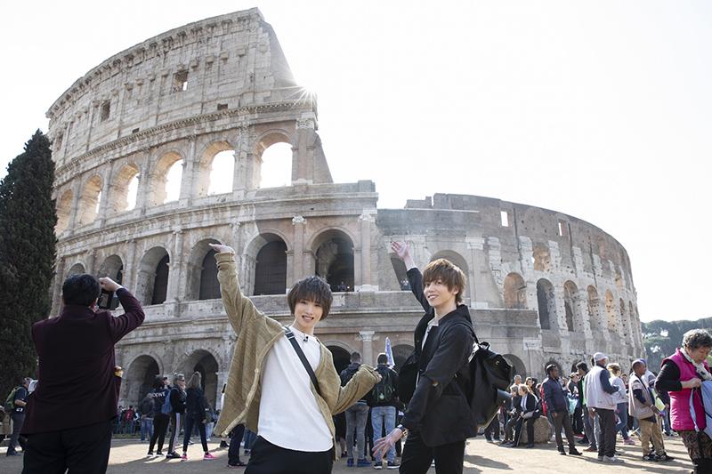 『たびメイト Season2』第1話の先行カットが公開 染谷俊之・植田圭輔はローマの「コロッセオ」へ イメージ画像